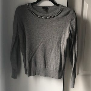 Ann Taylor Factory Jewel Cotton Sweater - M